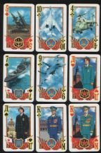 Collectable  playing cards Commanders, 1977